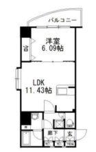 リベラいわき - 所在階2階の間取り図 5469