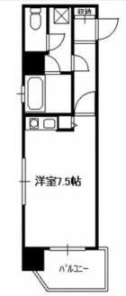 ステイタスマンション博多駅前 - 所在階 の間取り図