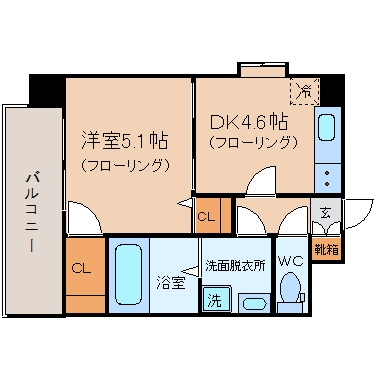 YGM博多301号室-間取り