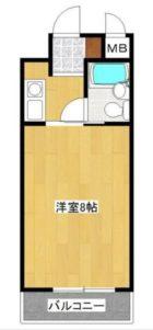エスポワール桜坂 - 所在階 の間取り図
