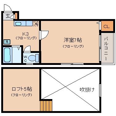 ネスト博多201号室-間取り