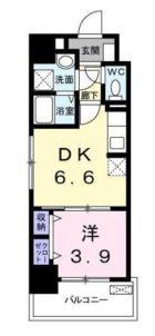 エンブレイス博多駅南 - 所在階 の間取り図