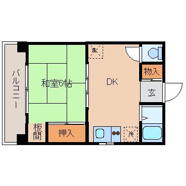 ノーブル亀山301号室-間取り