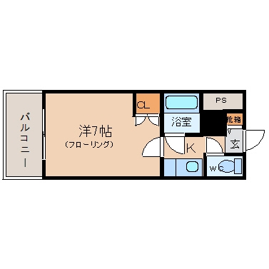 ノアーズアーク博多駅前307号室-間取り