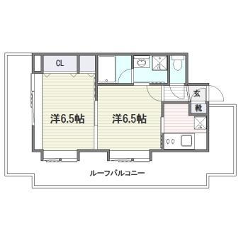 エステートモア平尾山荘通り1101号室-間取り