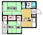 三角ビル - 所在階6階の間取り図 5723