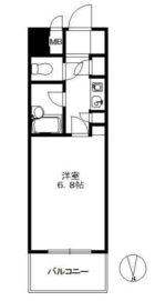 オリエントハイツ天神南 - 所在階 の間取り図