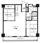 東峰マンション第2薬院 - 所在階***階の間取り図 5755
