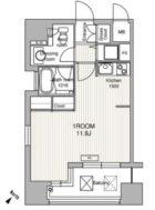 ラクレイス県庁口 - 所在階 の間取り図