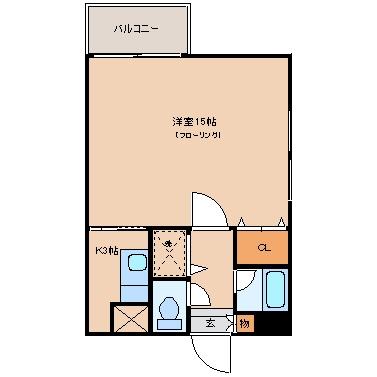 ハビタス21奈良屋401号室-間取り