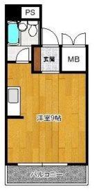 博多ニッコーハイツアネックス - 所在階***階の間取り図 5817