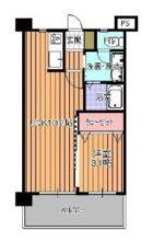 ウィステアリア博多東 - 所在階 の間取り図