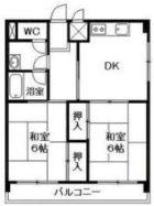 アルファーハイツ博多駅南 - 所在階 の間取り図