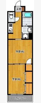 メゾンドサウスワン - 所在階 の間取り図