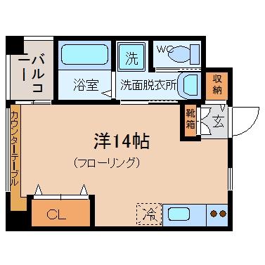 VARI HOUSE502号室-間取り