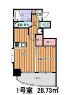 リバティ高砂六番館 - 所在階 の間取り図