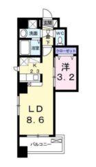 ボヌール高砂 - 所在階***階の間取り図 5987