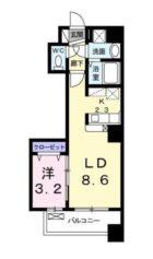 ボヌール高砂 - 所在階***階の間取り図 5990