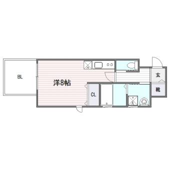 BLANC TOUR HAKATA202号室-間取り