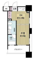 ルネッサンス21博多 - 所在階 の間取り図