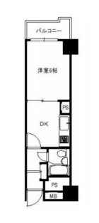シャンボール大名D棟 - 所在階 の間取り図