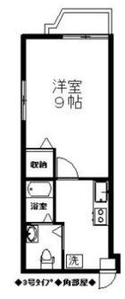 リバティ博多伍番館 - 所在階5階の間取り図 6072
