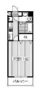 コンドミニアム薬院駅 - 所在階 の間取り図