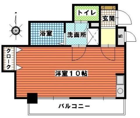 シティライフ博多駅南704号室-間取り