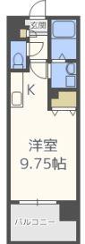 アーバンパーク天神東 - 所在階13階の間取り図 6133