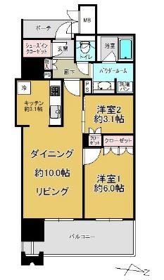 MJR赤坂タワー508号室-間取り