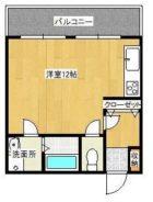 ヨーロピアン博多 - 所在階 の間取り図