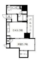 ライフ・モア春吉 - 所在階 の間取り図