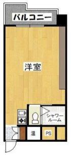 ライオンズマンション天神 - 所在階10階の間取り図 6329