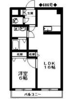 リバティ天神南 - 所在階 の間取り図