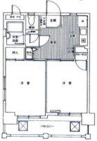 ダイナコート県庁前 - 所在階 の間取り図