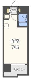 ロマネスクL六本松 - 所在階 の間取り図