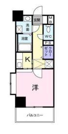 ルネス六本松 - 所在階 の間取り図