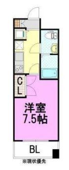 ピュアドームグランテージ博多 - 所在階***階の間取り図 6606