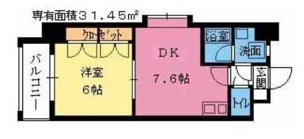 コンドミニアム・ステーションサイド博多601号室-間取り