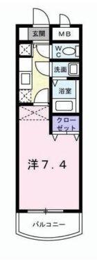 カルフール吉塚 - 所在階 の間取り図