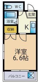 クリスタルウイング - 所在階 の間取り図