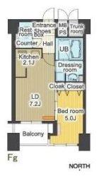 ラクレイス平尾ステーション - 所在階 の間取り図