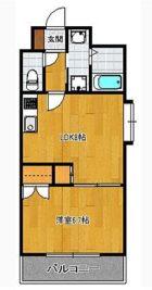 プラムハウス - 所在階 の間取り図