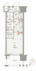 ウェルブライト博多 - 所在階 の間取り図