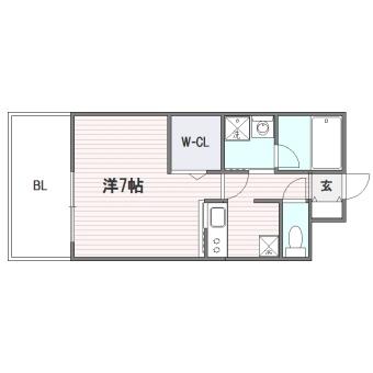 エンクレスト舞鶴Ⅱ503号室-間取り