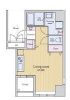 ラクレイス薬院 - 所在階 の間取り図