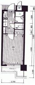 ダイナコートエスタディオ桜坂 - 所在階 の間取り図