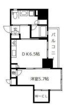 ライフ・モア春吉 - 所在階9階の間取り図 6897