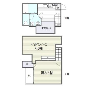 コンフォートベネフィスジオ吉塚駅前205号室-間取り
