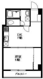 東峰マンション第2薬院 - 所在階 の間取り図